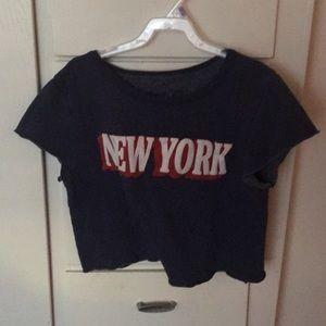New York crop vintage tee